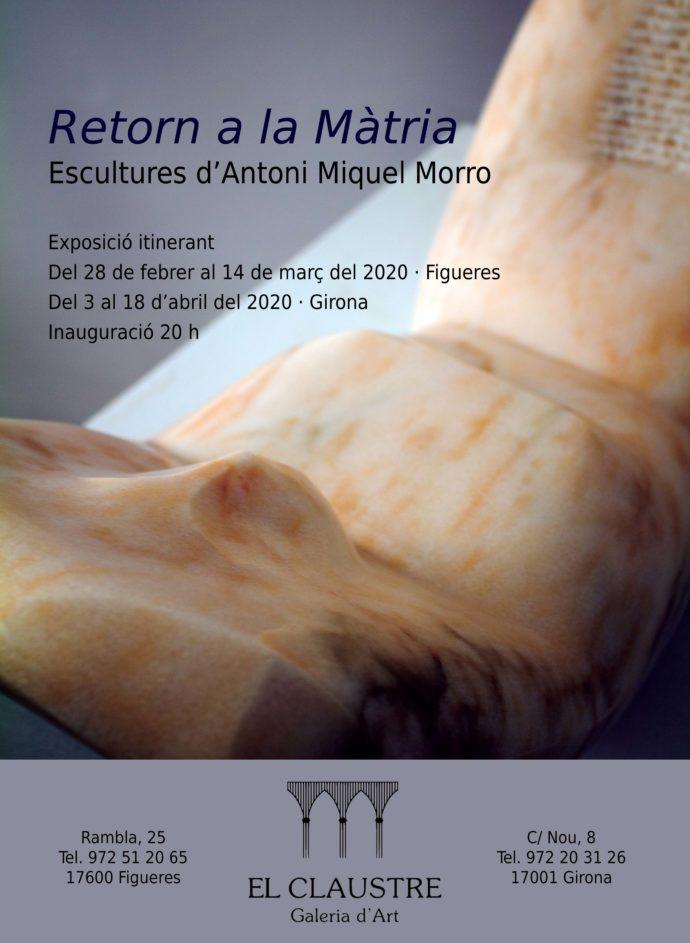 Exposició d'escultures d'Antoni Miquel Morro